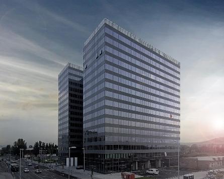 """Duna Tower"" – една от големите реализации на бюро Skyline Architekten.   –    Автор / Източник: www.skyline-architekten.at"